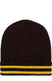 Шерстяная шапка с контрастными полосками Maison Margiela
