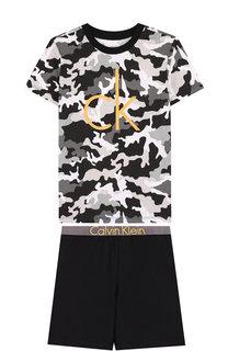 Хлопковая пижама Calvin Klein Underwear
