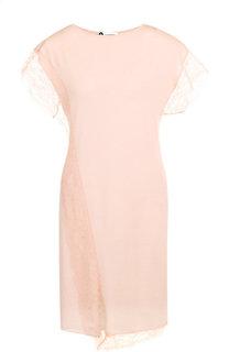 Однотонное шерстяное платье свободного кроя Lanvin