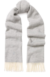 Шерстяной шарф с бахромой Polo Ralph Lauren