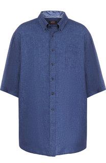 Льняная рубашка с короткими рукавами Paul&Shark