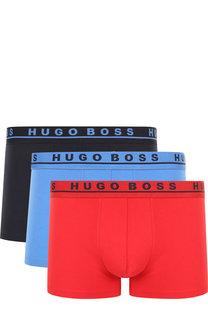 Комплект из трех хлопковых боксеров с широкой резинкой BOSS