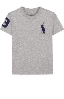 Хлопковая футболка с логотипом бренда Polo Ralph Lauren