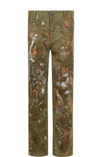 Укороченные джинсы прямого кроя с декоративной отделкой Polo Ralph Lauren