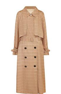 Пальто из вискозы с поясом Golden Goose Deluxe Brand