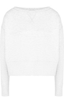 Хлопковый пуловер с логотипом бренда Golden Goose Deluxe Brand