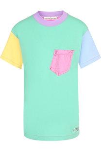 Хлопковая футболка с круглым вырезом и накладным карманом Golden Goose Deluxe Brand
