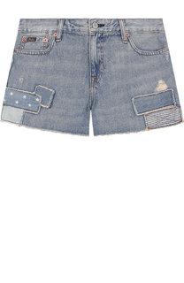 Джинсовые шорты с нашивками Polo Ralph Lauren