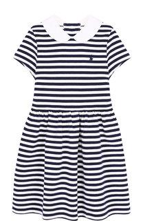 Хлопковое платье в полоску Polo Ralph Lauren