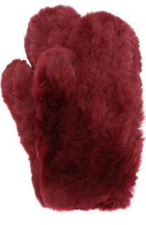 Варежки из меха кролика Yves Salomon