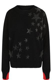 Кашемировый пуловер с декоративной отделкой в виде звезд Zadig&Voltaire