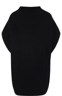 Шерстяной пуловер с укороченным рукавом Lanvin