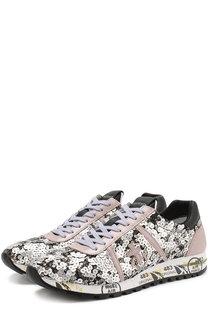 Кроссовки Lucy с отделкой пайетками на шнуровке Premiata