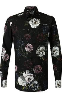Хлопковая рубашка с воротником кент Dolce & Gabbana