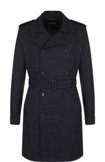 Двубортное шерстяное пальто с поясом Dolce & Gabbana