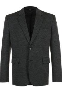 Однобортный шерстяной пиджак Brioni