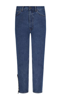 Укороченные джинсы прямого кроя Palm Angels