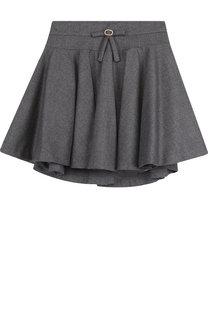 Мини-юбка свободного кроя с декором на поясе Aletta