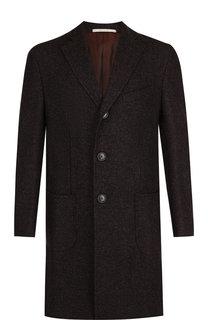 Однобортное пальто из смеси кашемира и шелка Pal Zileri