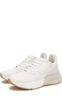 Кожаные кроссовки на платформе Alexander McQueen
