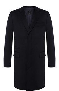Однобортное пальто из кашемира BOSS