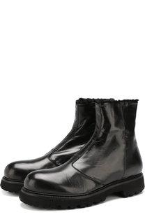 Кожаные ботинки на молнии с внутренней меховой отделкой Rocco P.
