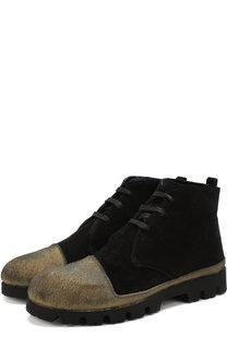 Замшевые ботинки на шнуровке с внутренней меховой отделкой Rocco P.