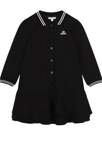 Платье с контрастной отделкой Givenchy