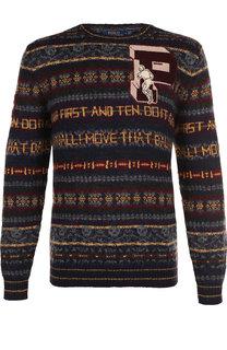 Шерстяной свитер с принтом Polo Ralph Lauren