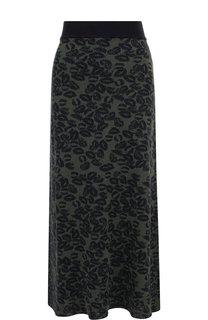 Вязаная юбка-миди с принтом Sonia Rykiel