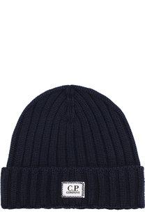 Шерстяная шапка с логотипом бренда C.P. Company