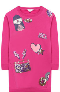 Хлопковое платье с аппликациями Marc Jacobs
