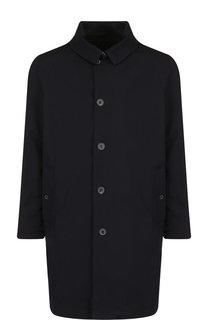 Однобортное шерстяное пальто на пуговицах с отложным воротником Lanvin