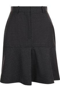 Шерстяная мини-юбка с оборкой CALVIN KLEIN 205W39NYC