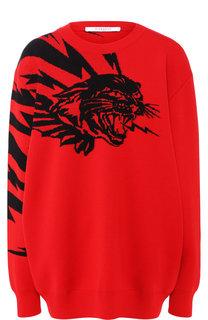 Пуловер свободного кроя с декоративной вышивкой Givenchy