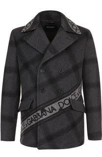 Шерстяной укороченный бушлат Dolce & Gabbana