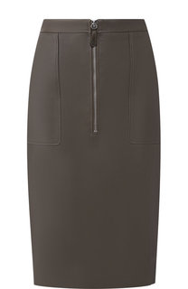 Кожаная юбка-карандаш на молнии с карманами Altuzarra