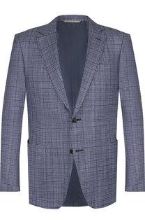 Однобортный пиджак из смеси шелка и кашемира Canali