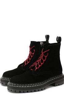 Высокие замшевые ботинки на шнуровке Proenza Schouler