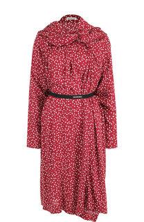 Платье-миди асимметричного кроя с принтом Balenciaga