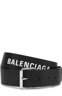 Кожаный ремень с металлической пряжкой Balenciaga