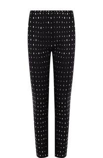 Укороченные брюки из смеси шерсти и шелка с декоративной отделкой Valentino