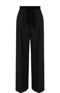 Шерстяные брюки с завышенной талией и поясом Valentino