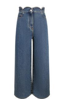 Укороченные джинсы с потертостями Valentino