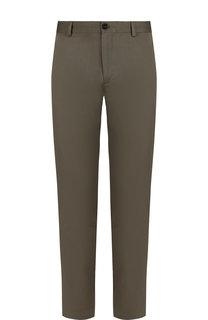 Хлопковые брюки прямого кроя Burberry