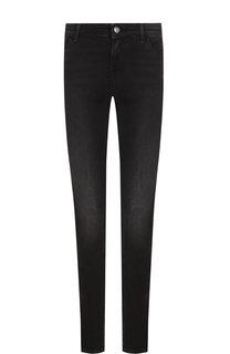 Укороченные джинсы с потертостями Emporio Armani