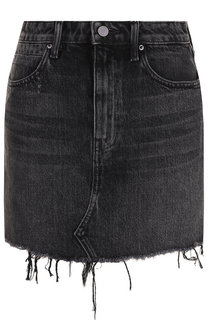 Джинсовая мини-юбка с бахромой Denim X Alexander Wang
