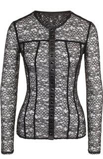 Полупрозрачная блуза с круглым вырезом Alexander Wang