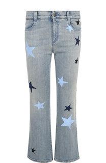 Укороченные расклешенные джинсы с принтом в виде звезд Stella McCartney