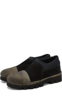 Кожаные ботинки с резиновым мысом Rocco P.